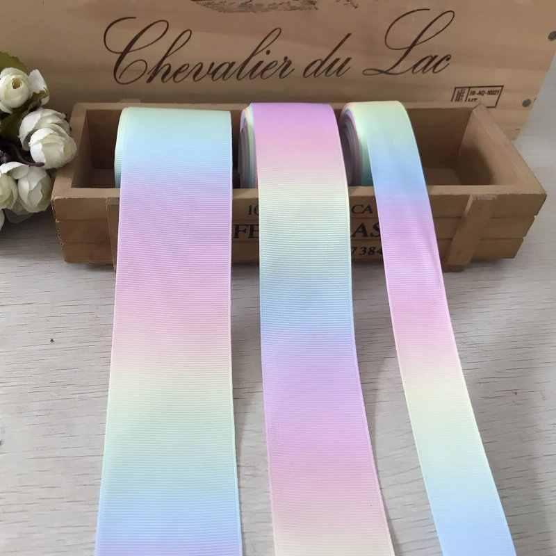 Cinta de gradiente de satén para costura, 2 m/lote, cintas de sirena para DIY, lazo para coche, boda, equipo, regalo de novia, envoltura de decoración