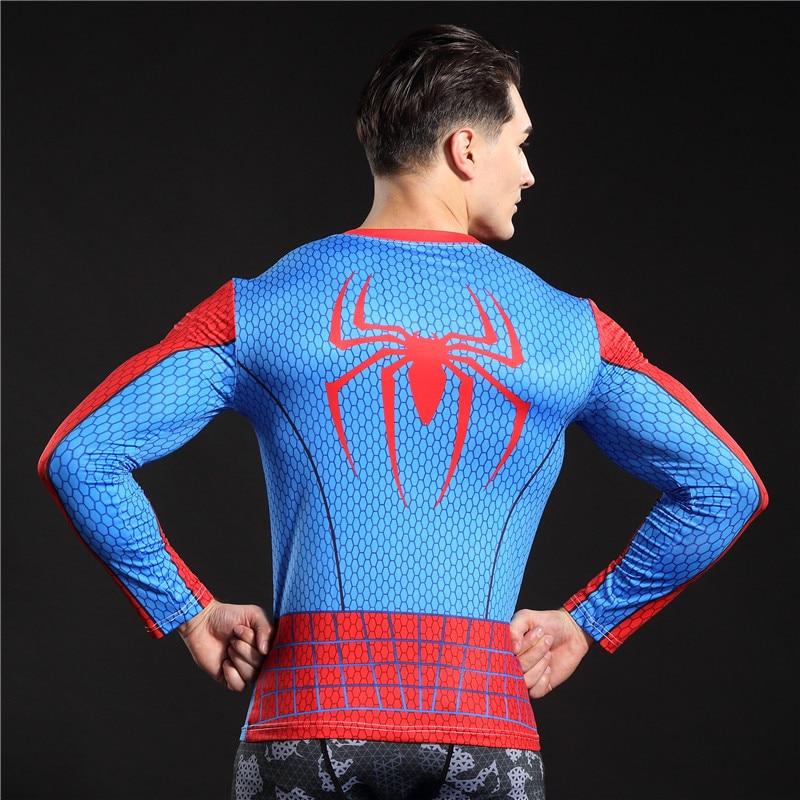 Tornaterem Ruházat Fitness Compression Shirt Férfi Superman Batman - Férfi ruházat