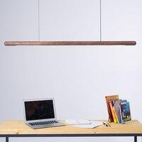 120cm Wood LED Pendant Lamp ModernSuspension Light Long Bar Tube Round Office Meeting Dinning Room Hotel Villa Counter Lighting