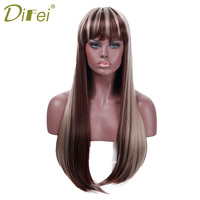 Synthetic Lady S Heat Resistant Long Straight Blonde Mix Color Hair Wig Costume Cos Play Salon