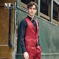 Roupas de marca 2016 Novo morden moda Retro homens de roupas terno colete homens colete de casamento dos homens formais colete vest além disso sólidos tamanho