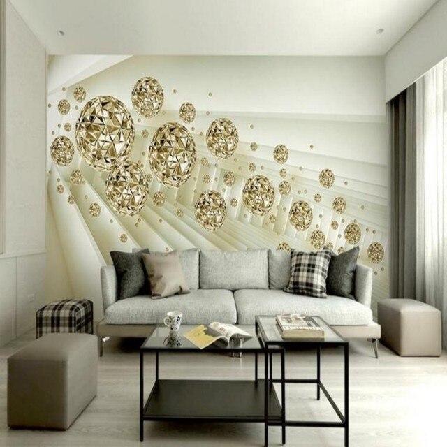 Beibehang D Abstrakte Hintergrund Der Europischen Goldenen Raum Ball  Auenraum Dekoration Wohnzimmer Tv Tapete With Raum Dekorieren