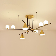 Postmodern LED chandelier ceiling Nordic dining room hanging lights bedroom lighting fixtures living pendant lamps