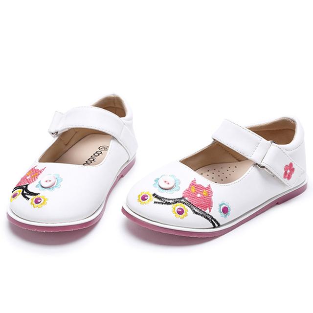 2016 meninas de couro genuíno shoes bonito dos desenhos animados da princesa shoes crianças shoes meninas único shoes sandálias flor