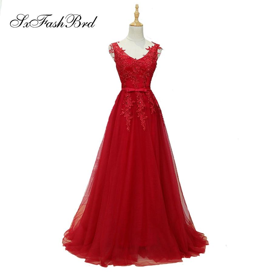 Vestido De Festa V με λαιμό με τις εφαρμογές - Ειδικές φορέματα περίπτωσης - Φωτογραφία 1