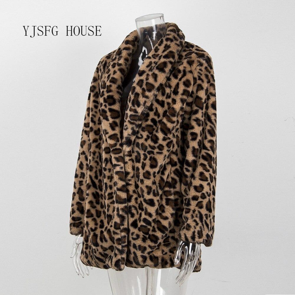 Leopard Coats 2020 New Women High Quality Faux Fur Coat Luxury Winter Warm Plush Jacket Fashion Artificial Fur Women's  Outwear
