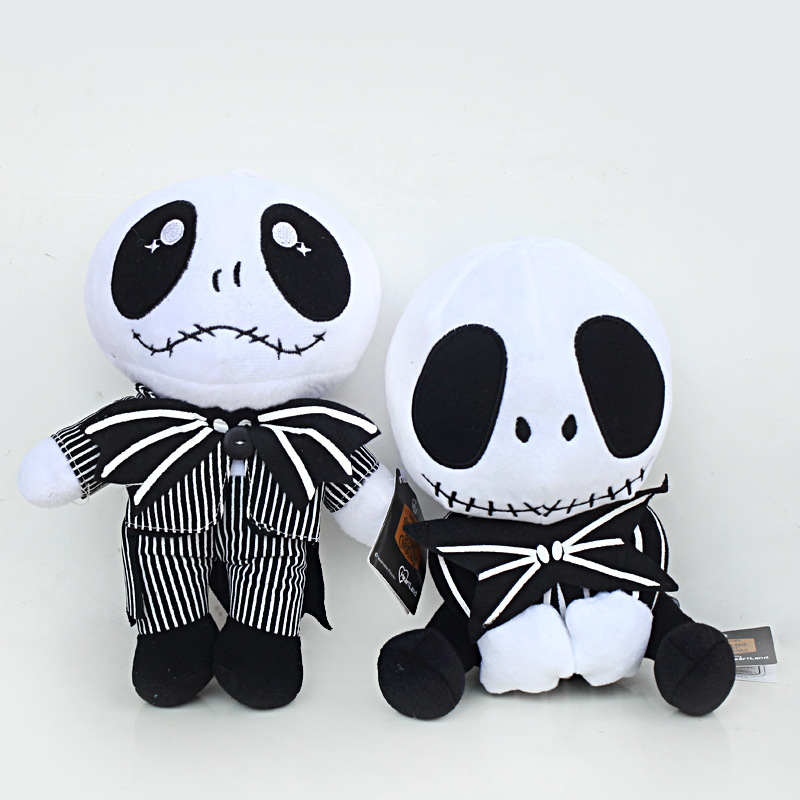 20-25cm The Nightmare Before Christmas Jack Skellington Plush Toys Doll Skull Jake Plush Stuffed Toys for Children Kids Gifts bookfong octopus plush toys dolls the cute pillow seat cushion backrest the stuffed toys for children christmas gifts