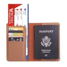 Funkcja PU skórzany paszport posiadacz Travel akcesoria kobiety paszport okładka Storage Organizer busines karty kredytowej dowód portfela Case tanie tanio Akcesoria podróżne Stałe PU skórzane okładki paszportowe 9 8 cm O Xsit Tthe Pokrowce na paszport 0 3 cm od Masz 14 2 cm