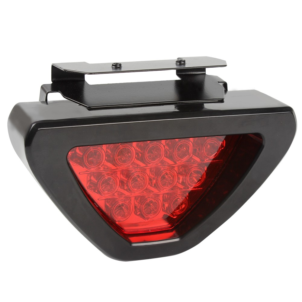 Universal Motorcycle Tail Stop Driving Light Moto Brake lamp Motorbike auxiliary triangle led Rear fog lights Car Accessories 10
