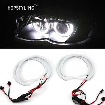 Car-styling 1 SET (2X 146mm+2X 131 mm )White Halo Cotton Light car smd LED Angel eyes for BMW E46 non projector auto lighting - DISCOUNT ITEM  41% OFF All Category