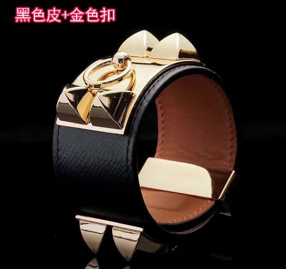 Nouveau bracelet en cuir souple avec boucle en cuir