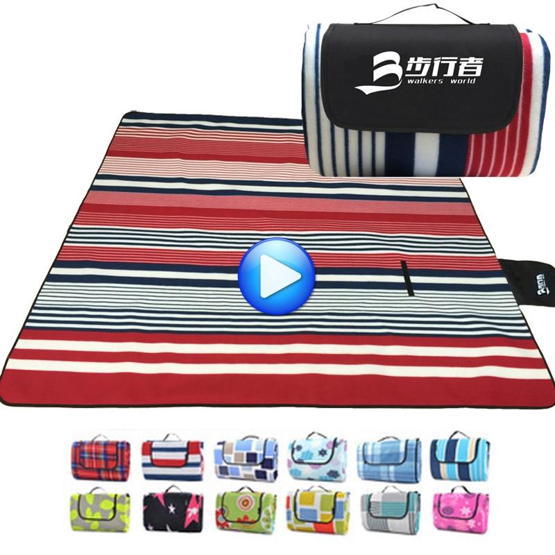200*200CM Beach Mat Portable Camping Mattress Sleeping Pad Folding Yoga Mat Waterproof Picnic Blanket <font><b>Baby</b></font> Tent Sand Free Mat
