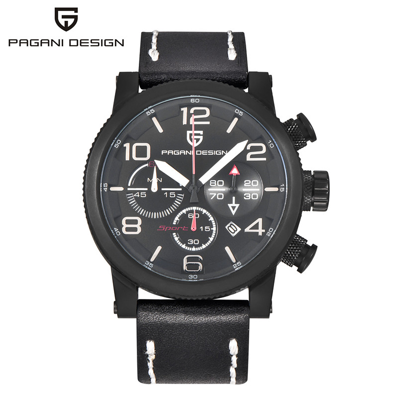 2016 Limited New Pagani Design Luxury Brand Watch Men Quartz Fashion Casual Male Sport Date Clock Leather Military Wristwatches pagani design mens watch fashion luxury brand clock male casual sport wristwatch men pirate skull style quartz watch reloj hombe