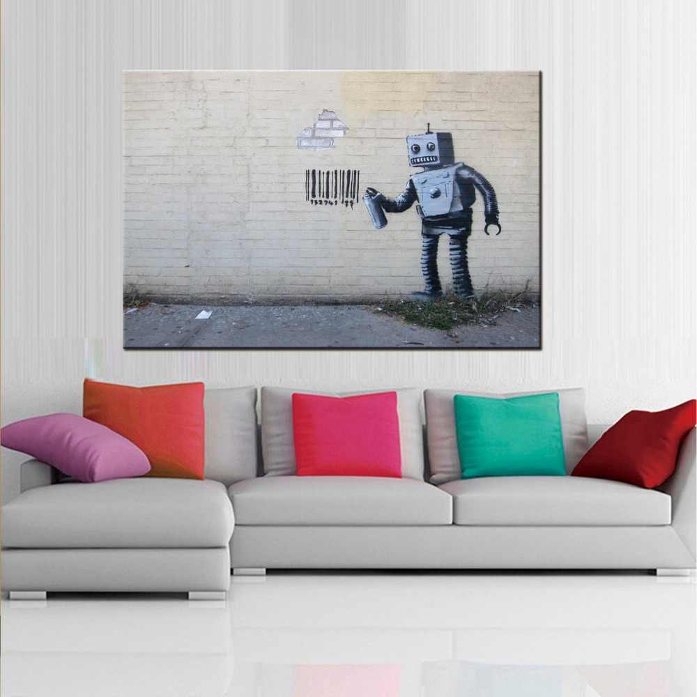 1 panel  Art Follow Your Dreams Painting Prints On Canvas Colorful Graffiti Monkey Street Wall Art for Home Decor