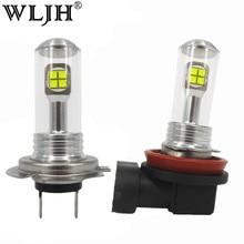 WLJH 2x Car Led T10 H7 H8 H9 H11 9006 881 LED 80W 2000LM Light Auto