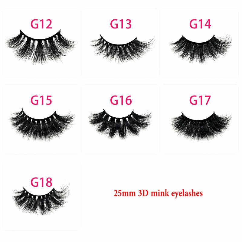 7009c40370b ... 3D Mink Lashes 25mm Eyelashes 100% Cruelty Free Lashes Handmade  Reusable Natural Eyelashes Popular False ...