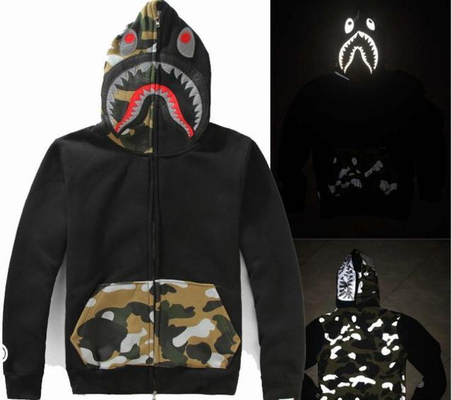 36bcd4ebd016 BAPE bomber shark hoodie sweatshirt Men Maca Man Deva cotton sportswear  men s hoodies jackets