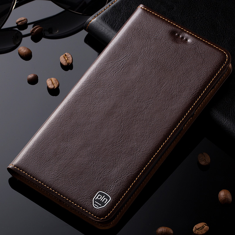 Genuine Leather Case For Xiaomi Redmi Note 6 7 8 8T Pro 8A Magnet Stand Flip