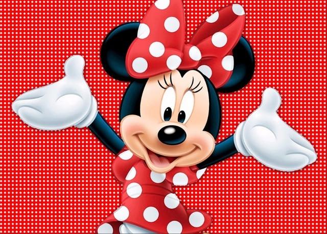 7x5FT Dark Red Polka Dots Minnie Custom Photo Studio Background Backdrop Vinyl 150cm x 220cm