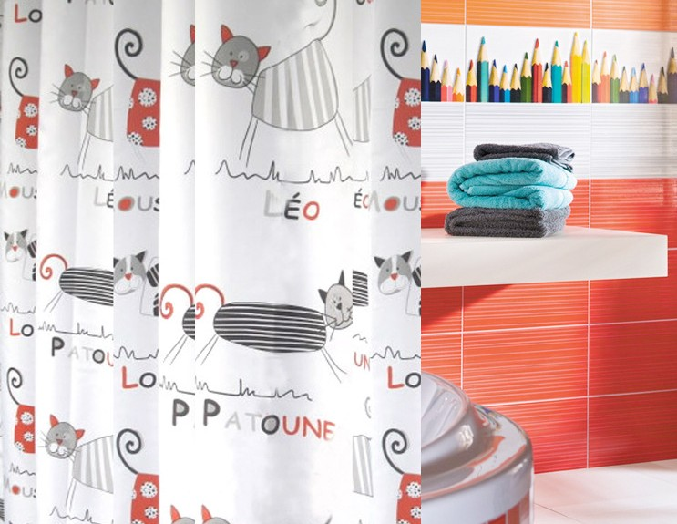 cartoon shower curtain