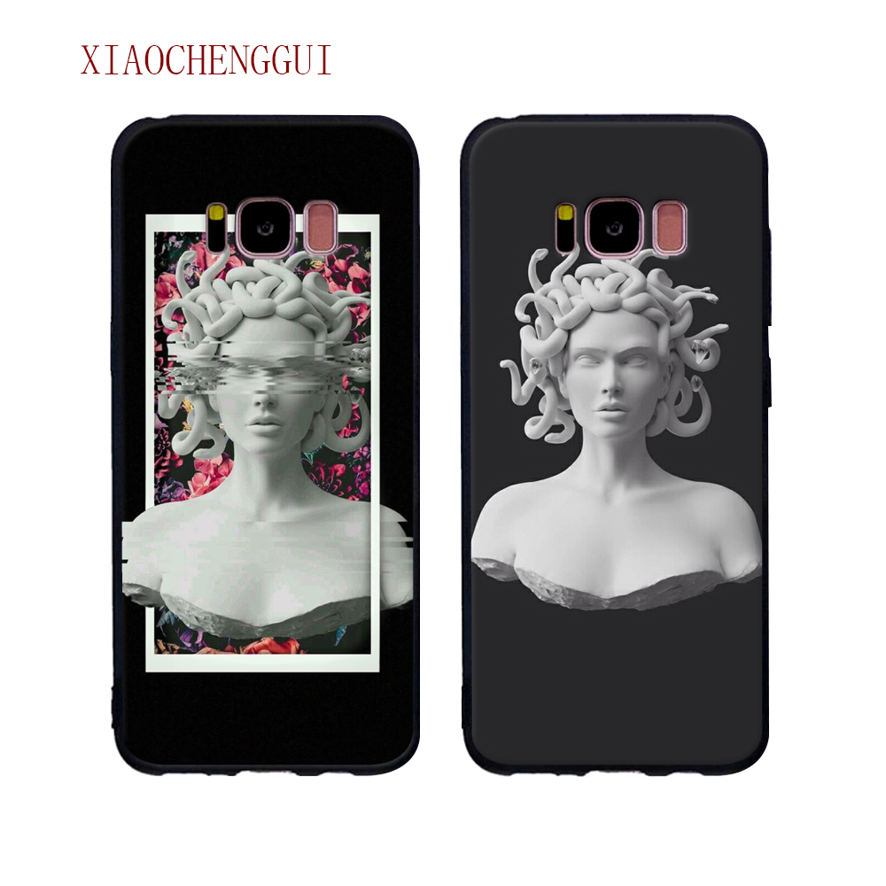 US $1 66 7% OFF|Medusa Vaporwave Glitch Art Coque Tpu Soft Silicone Phone  Case Shell For Samsung Galaxy S7 S7Edge S8 S9 S8Plus S9plus Case-in Fitted