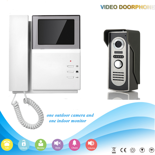 Handset Digital Colorful Screen Wired Video Door Phone Doorbell ...