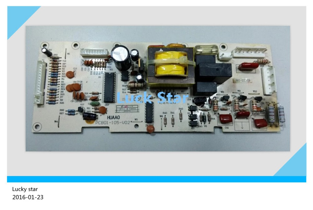 95% new for Rong sheng refrigerator computer motherboard bdg23-186 pcb01-105-v02 refrigerator accessories 95% new used for refrigerator computer board pcb01 20 v01 pcb01 20 v02 bdg23 95