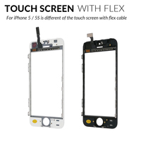 5 iphone 5s Best quality Front Glass For iPhone 5 5s Touch Screen Digitizer  Panel LENS Replacement With tools in White And Black Color (4)