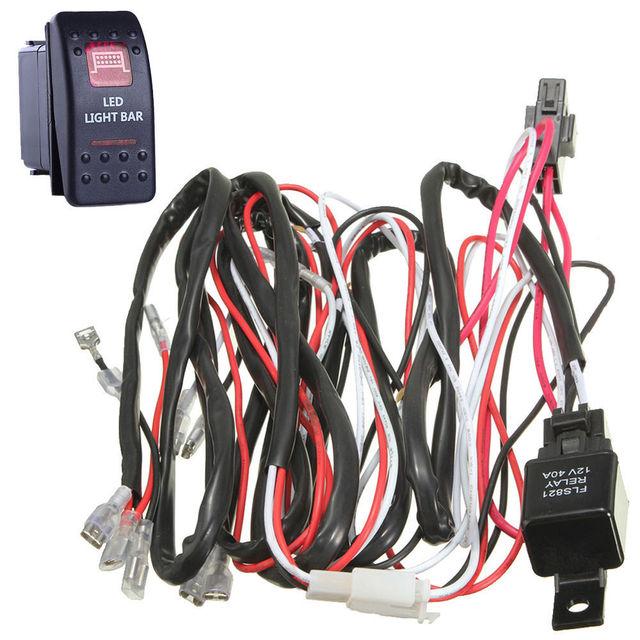 EE unterstützung 40A Kabelbaum Kit Rot LED Lichtleiste Rocker ...
