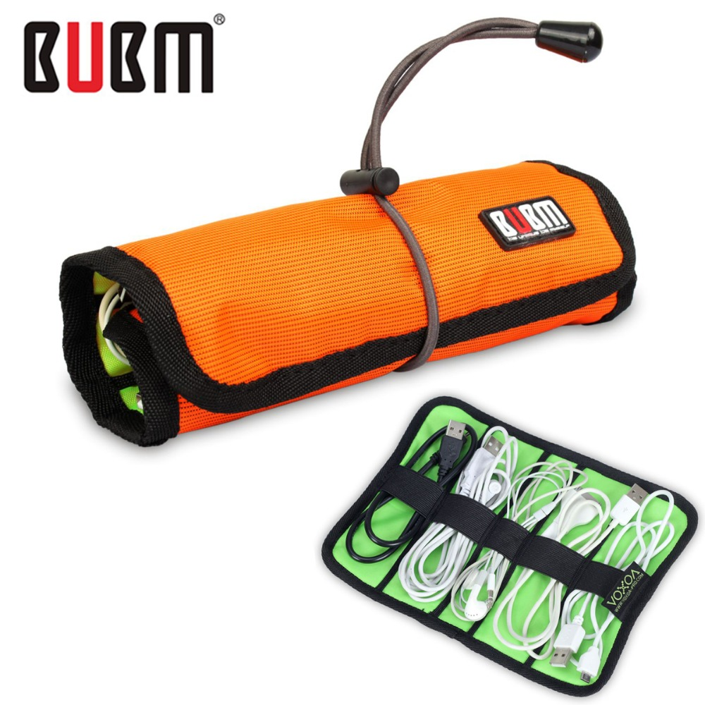 hot sale bubm roll wire storage bag for digital gadget devices usb cable earphone electronics accessories