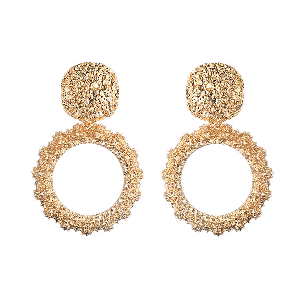 747f9a061ff36 Big Vintage Earrings for women gold color Geometric statement earring 2019  earing hanging black yellow red fashion jewelry