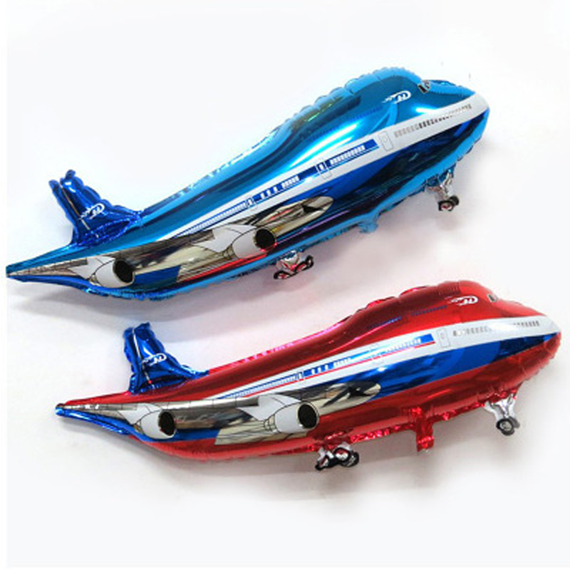 1pcs Cartoon Aeroplane 85*45cm Number Foil Balloon Model Toys Cartoon Party Toys Party Hat Toys Air Birthday Party For Kids Toys