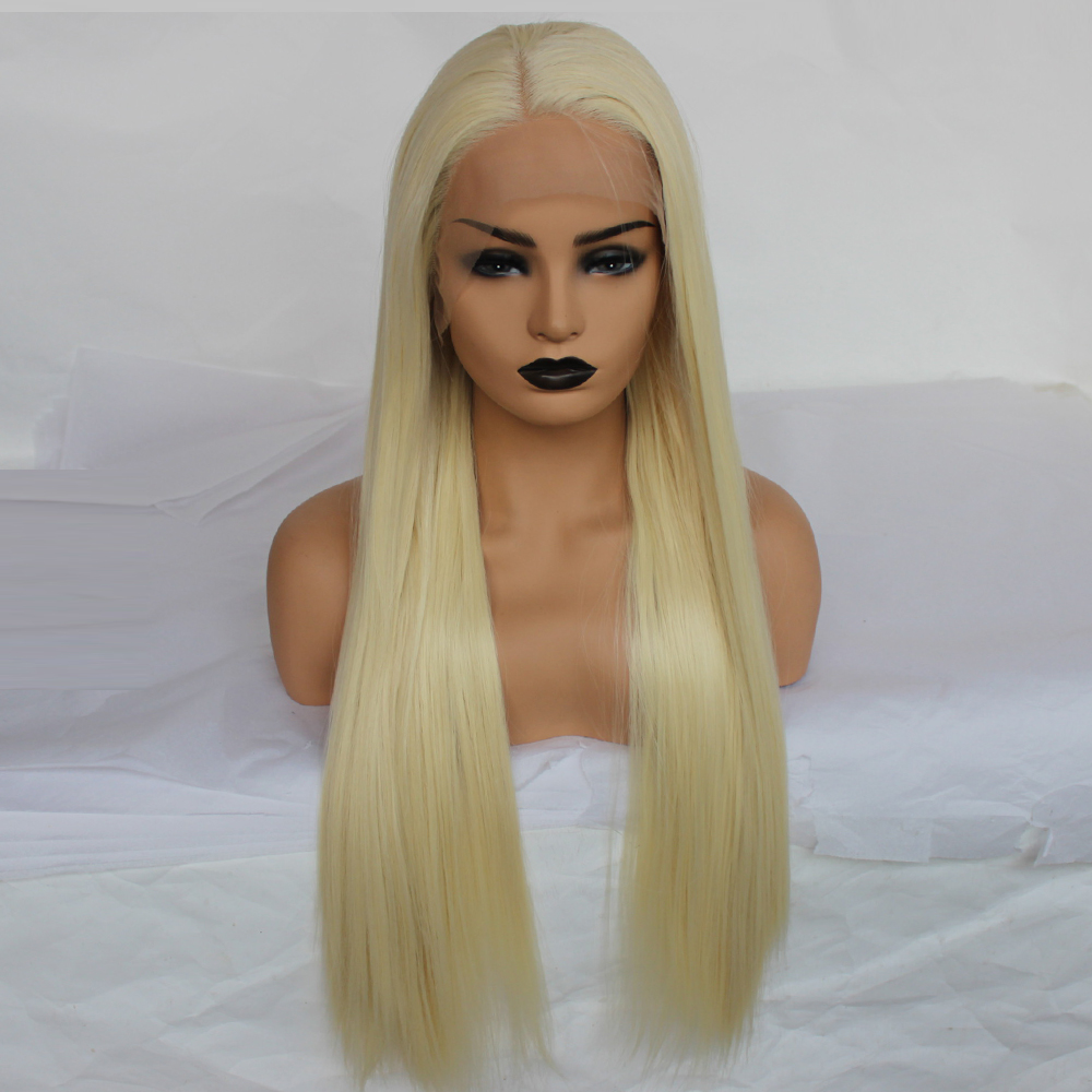 Synthetic Lace Front Wig Women s Straight 613 Blonde Synthetic Hair Natural Hairline Blonde Wig 22