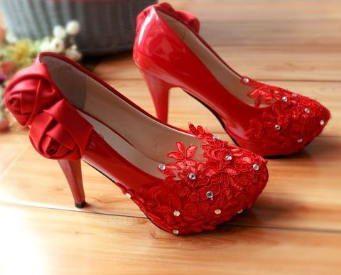 ФОТО Fashion new coming red lace dance proms party pumps shoes women, TG135 spring summer european hot fashion med low high heel shoe
