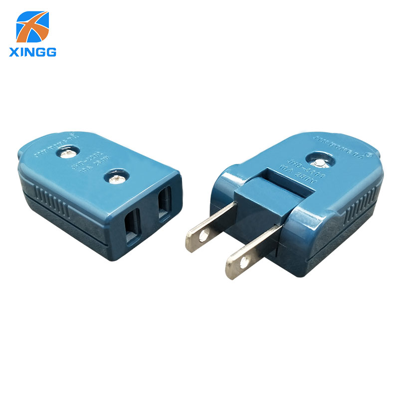 us american 2 pins ac electric power adjustable male plug female socket  outlet adaptor wire rewireable