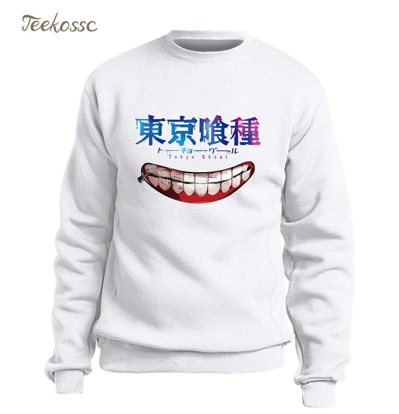 White Sweatshirt Tokyo Ghoul Hoodie Men Sasuke Ninja Hoodies Anime Sweatshirts 2018 Winter Autumn Fleece Warm Hip Hop Sportswear