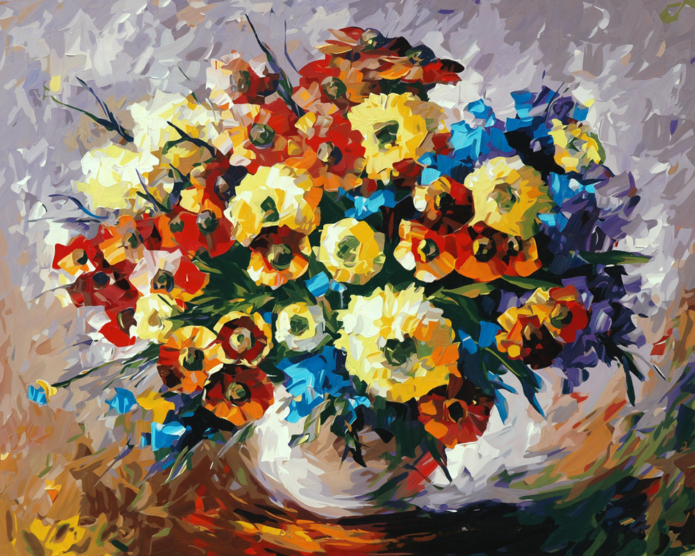 Kitchen Decor Flowers Daisy Oil Painting Picture By Numbers Hand Paint Drawing Coloring By Numbers Cherry