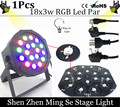 LED Par light 18x3W 54W High Power RGB Par Light With DMX512 Master Slave Led Flat DJ Equipments Controller