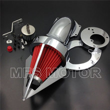 Motorcycle Part Cone Spike Air Cleaner intake for Honda VTX1300 VTX 1300 1986-2012 CD aftermarket free shipping motorcycle parts air cleaner intake kit filter for honda vtx1300 vtx 1300 1986 2012 chromed