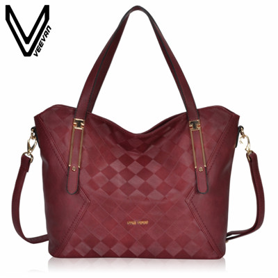 VEEVANV New Designer Female Leather Handbag Bolsa Feminine Women Messenger Bag Vintage Shoulder Bags Fashion Office Lady Handbag