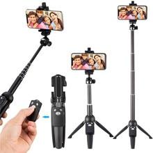 Selfie מקל חצובה 40 אינץ אלחוטי מרחוק ועמדת חצובה חדרגל עבור iPhone X 8/8 בתוספת xiaomi huawei Bluetooth selfie מקל