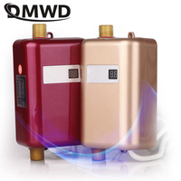 DMWD 3800W Electric Water Heater Instant Tankless Water Heater 110V/220V 3.8KW Temperature display Heating Shower Universal