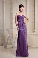 Бесплатная доставка 2017 новых прибытия длинным рукавом марокканские платья нестандартного размера/цвет шифон фиолетовый невесты платье с к