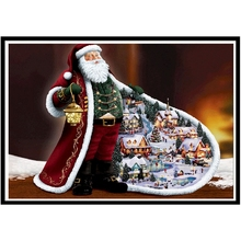 3D DIY Diamond Round Diamond Christmas Old Man Tree Diamond Painting  Embroidered Cross-stitch Rhinestone Mosaic Gift