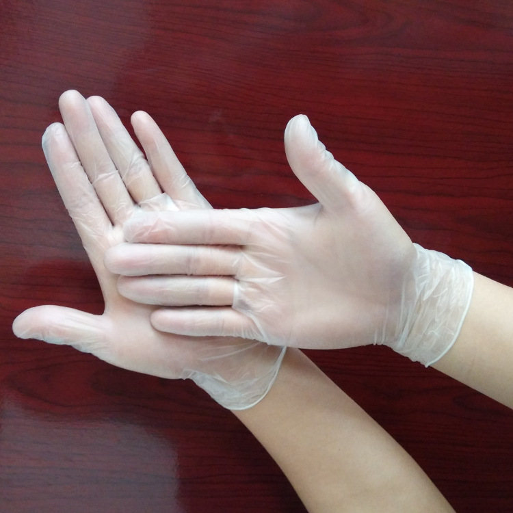 20Pcs/Lot Food Grade Plastic Transparent Disposable Gloves Disposable Vinyl Gloves For Housework Cleaning Kitchen Transparent