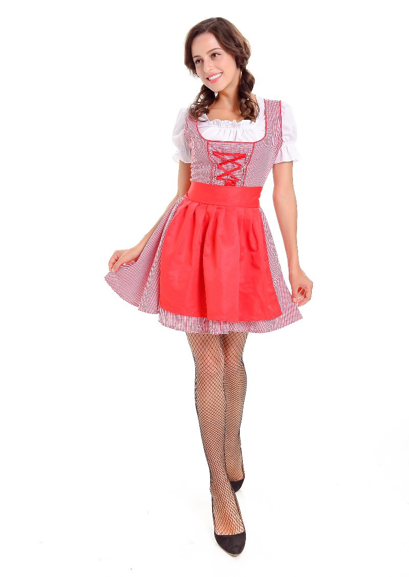 New Arrival Beer Girl Costume German Oktoberfest Dirndl Bavarian Festival Carnival Party Fancy Dress