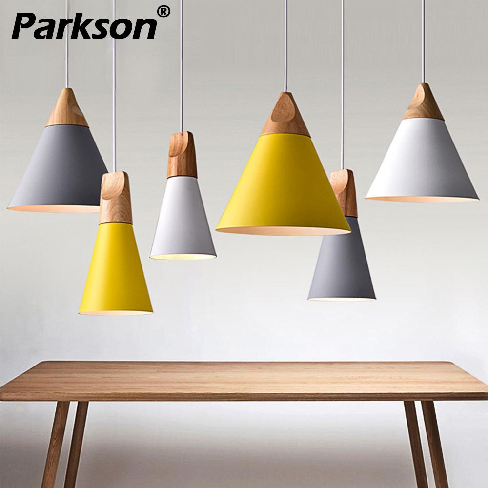 Pendant Lights Dining Room Modern Pendant Lamps E27 Holder Colorful Restaurant Coffee Bedroom Lighting Iron+Solid WoodPendant Lights Dining Room Modern Pendant Lamps E27 Holder Colorful Restaurant Coffee Bedroom Lighting Iron+Solid Wood