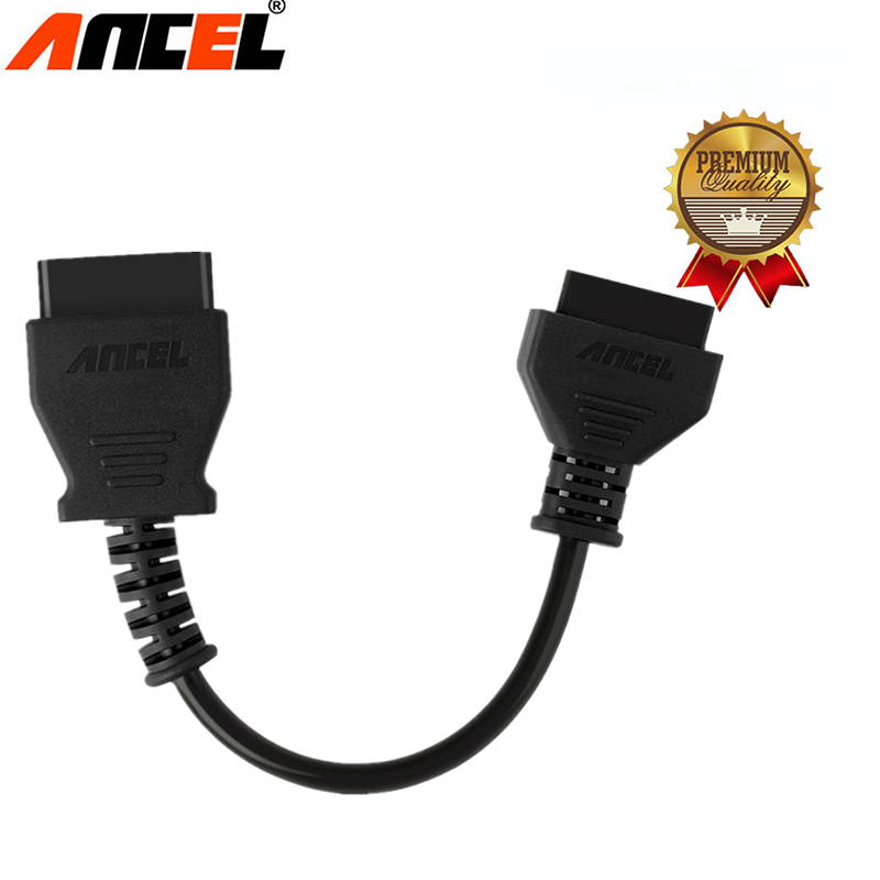 ANCEL OBD2 Cable 16Pin Extension Connector Male Female OBD Connector 12V Automotive