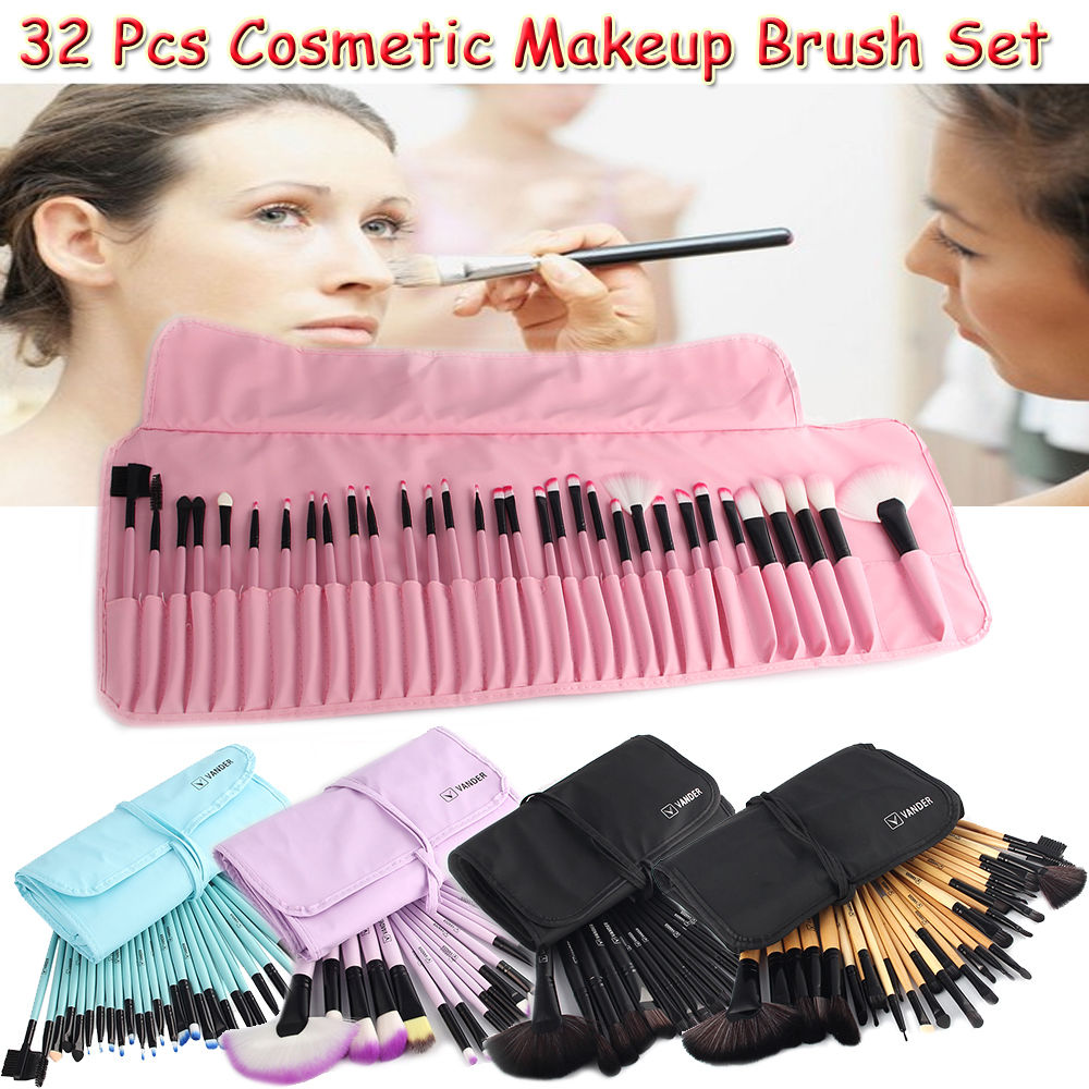Professional Muticolor 32 pcs Makeup Brushes Set Gift Cosmetics Eyebrow Shadow Health Make Up Brush Kits Maquigem + Pouch Bag grille