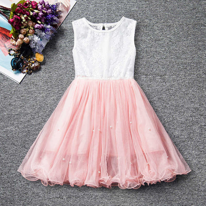 c4d35477f1 Summer Kids Dresses For Girls Party Frock Tutu Birthday Dress Baby Girl  Casual Wear Children Tulle